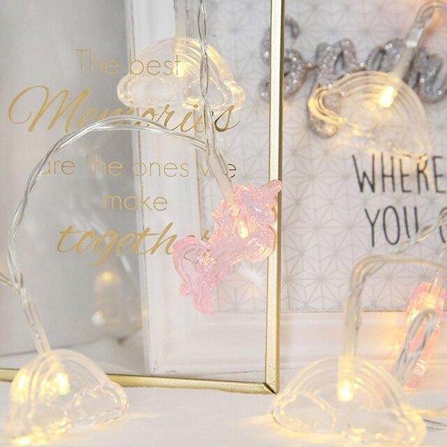 Unicorn Plus Cloud Led Flashing Lights Unicorn Flashing String Lights  Bedroom Room Ins Decorative Lights Cute