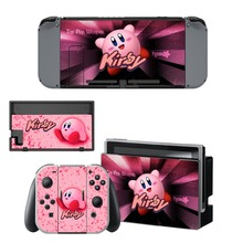 Game Kirby Decal Vinyl Skin Protector Sticker for Nintendo Switch NS Console +Controller + Stand Holder Protective Film цена и фото