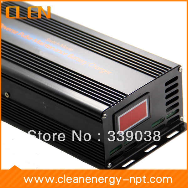 36V/48V 10A voltage switchable battery charger has Dual Power Management System