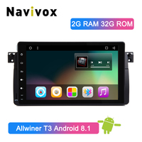 Navivox 9 Full Touch Android 8.1 Car DVD For BMW E46 Sedan Rover 75 1999 2000 2001 2002 2003 2004 MG ZT Car Multimedia Player