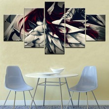 5 Pieces Paintings on Canvas Wall Art Fairy Tail Anime Home Decor For Living Room Artwork
