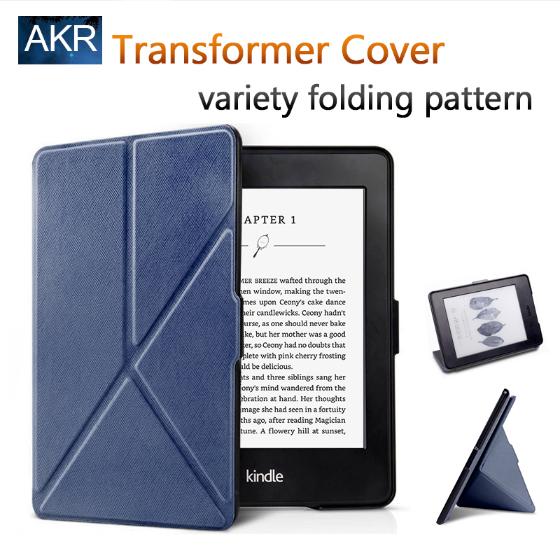 Fashion PU Leather Case for Kindle voyage Stand Cover Variety Folding Pattern AKR 2017 New Arrival Free Gift Free Shipping