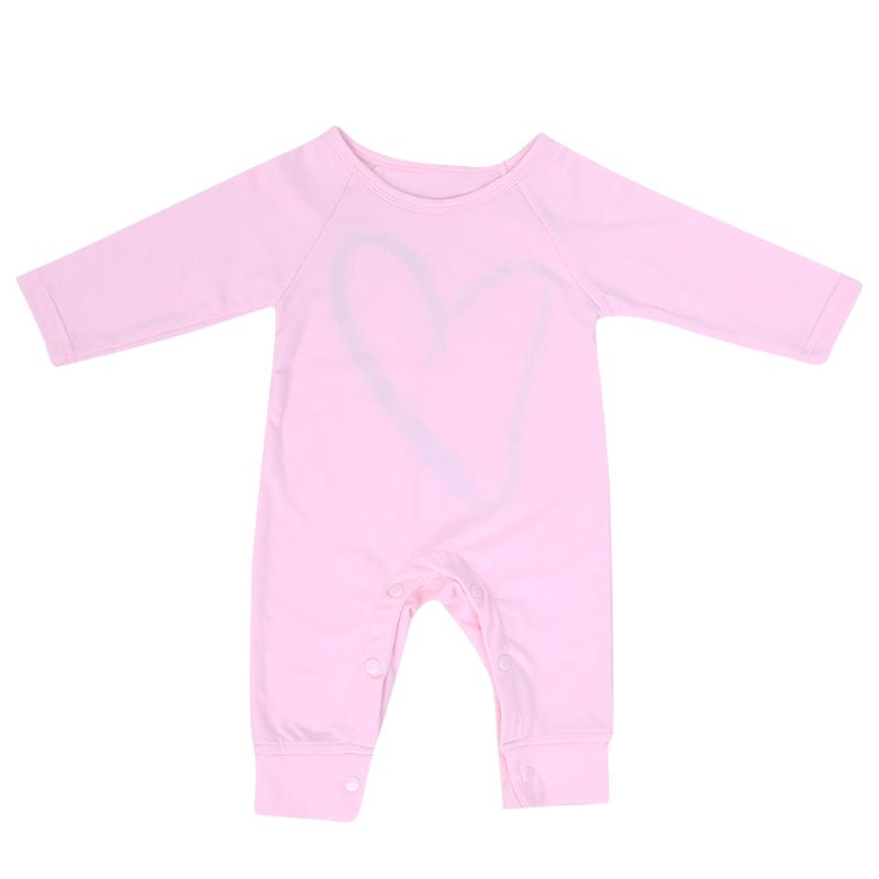 Fashion Baby Girls Soft Cotton Romper Clothes Casual Love Heart Pattern Long Sleeve Romper Spring Autumn One-piece Jumpsuit