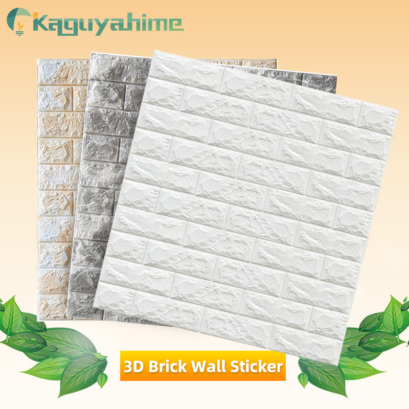 Kaguyahime 3D Waterproof Wallpaper Brick DIY Self-Adhesive Stickers Decor Home Kitchen Sticker For Kids Room Marble Wallpaper image