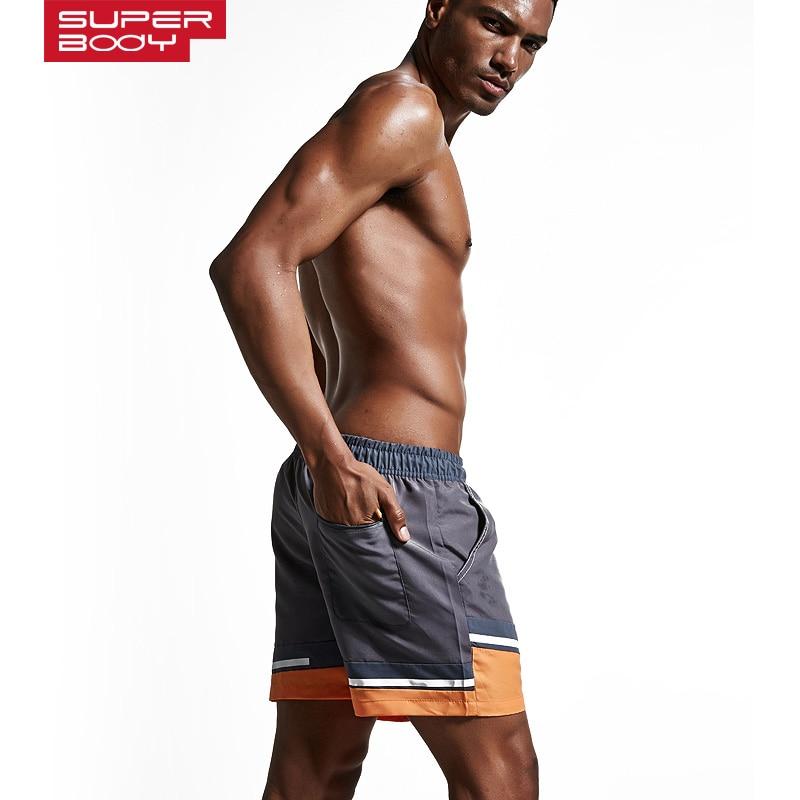 Sportet e verës për meshkuj që mbajnë pantallona plazhi Shirita - Veshje sportive dhe aksesorë sportive - Foto 4