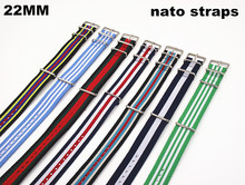 New color - Wholesale 10PCS/lots High quality 22MM Nylon Watch band NATO straps waterproof watch strap nato strap - 40302