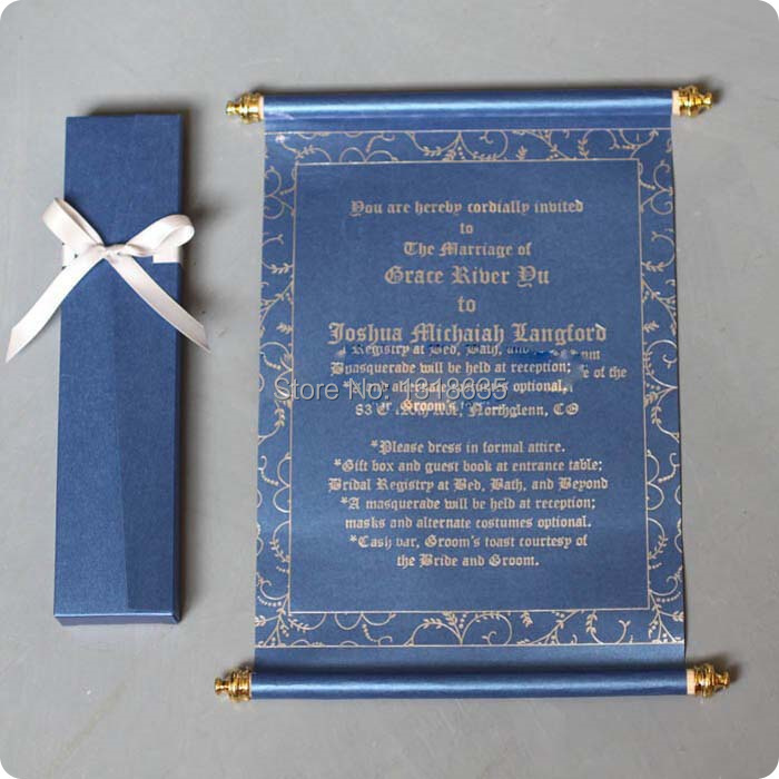 Scroll Wedding Invitation Cards Creditre Us