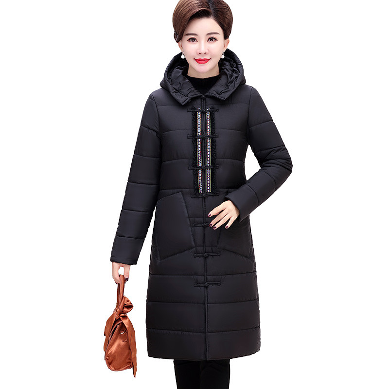 5c48edf851b Winter Parkas Middle aged Female Cotton Jacket Thick Warm Hooded Coat Women  Plus size 5XL Cotton-padded jacket Long Coats A2326