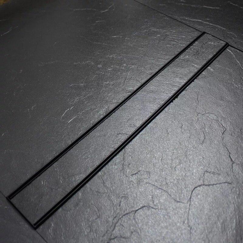 Коллекция 304 года, душевая кабина из нержавеющей стали с большим объемом, полоса, стока для пола, прямоугольный стелс, напольный дренаж