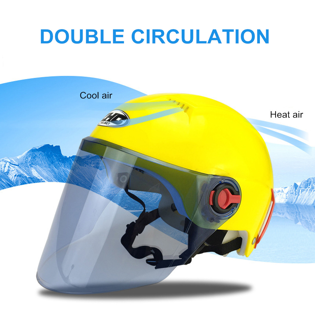 Half Motorcycle Safety font b Helmet b font Sun Visor Flip Up Cycling Outdoor Sports Double