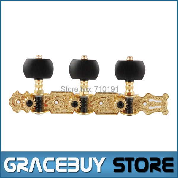 Alice AO-020V3P Gold-Plated 3 Machine Head (Long) Classical Guitar String Tuning Key Peg Brand New gold plating electric guitar tuning peg skull head string lock tuning key full enclosed string knob string axle