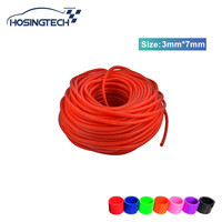 HOSINGTECH 3mm Vacuum Silicone Hose Intercooler Coupler Pipe Turbo Red 50M