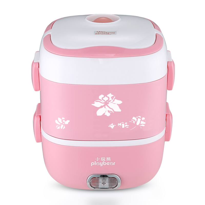 1.8L Electric Lunch Box Three Layers Pluggable Insulation Heating Cooking Rice Cooker Stainless Steel Electric Hot Rice Cooker cukyi multi functional programmable pressure cooker rice cooker pressure slow cooking pot cooker 4 quart 900w stainless steel