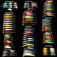 109 Pcs Set Lot Wobbler Minnow Bass Fishing Lures Crankbait Tackle Steel Hooks Outdoor Fishing Accessory