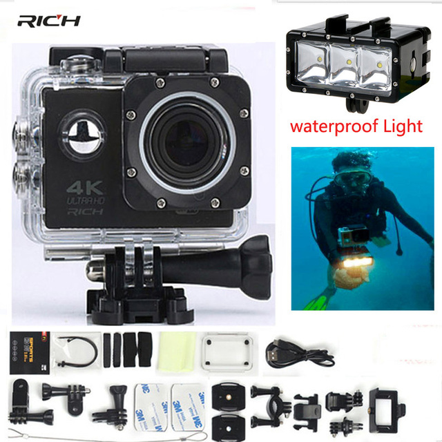 F60 F60R Sports video Camera 4K 1080p Wifi 170 Wide Lens 30M waterproof go pro style 2.4G remote Action camera