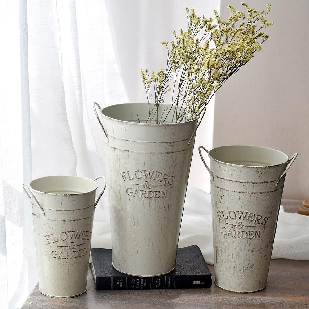 Ev ve Bahçe'ten Saksı ve Ekiciler'de Kalınlaşmak Çiçek küvet masa üstü çiçek saksıları yetiştiricilerinin ev dekorasyon antika retro fırçalanmış yüzey'da  Grup 1