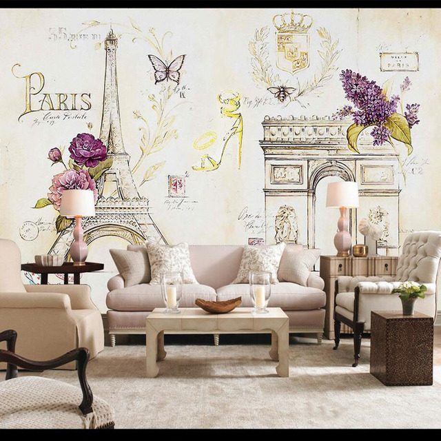 Perfect Custom Size Photo 3D Paris Iron Tower Eiffel Wallpaper Castle Living Room  Bedroom Restaurant Cafe Mural