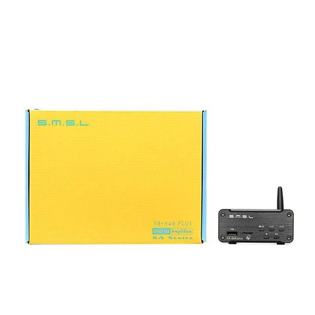SMSL SA-36A Plus HIFI Audio Class D Amplifier 30W*2 TPA3118 Digital Power Amplifier Bluetooth AUX TF card/USB/U Disk Input 6