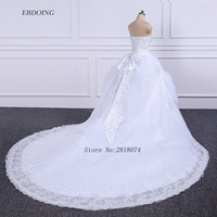New Arrive Sweetheart Neckline A Line Wedding Dress 2018 White Strapless Lace Beading Bride Dress Vestidos