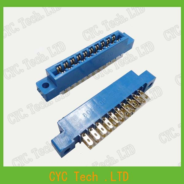 5pcs/Lot 805 Card Edge Connector 3.96mm Pitch 2x10 Row 20
