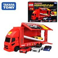 Tomica Gift Box Big Racing Transporter Set 4 Vehicles Honda, Mazda, Daihatsu,Takara Tomy Motors Vehicle Diecast Metal Model Toys
