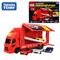 Tomica Gift Box Big Racing Transporter Set 4 Vehicles Honda, Mazda, Daihatsu,Takara Tomy Motors Vehicle Diecast Metal Model Toys