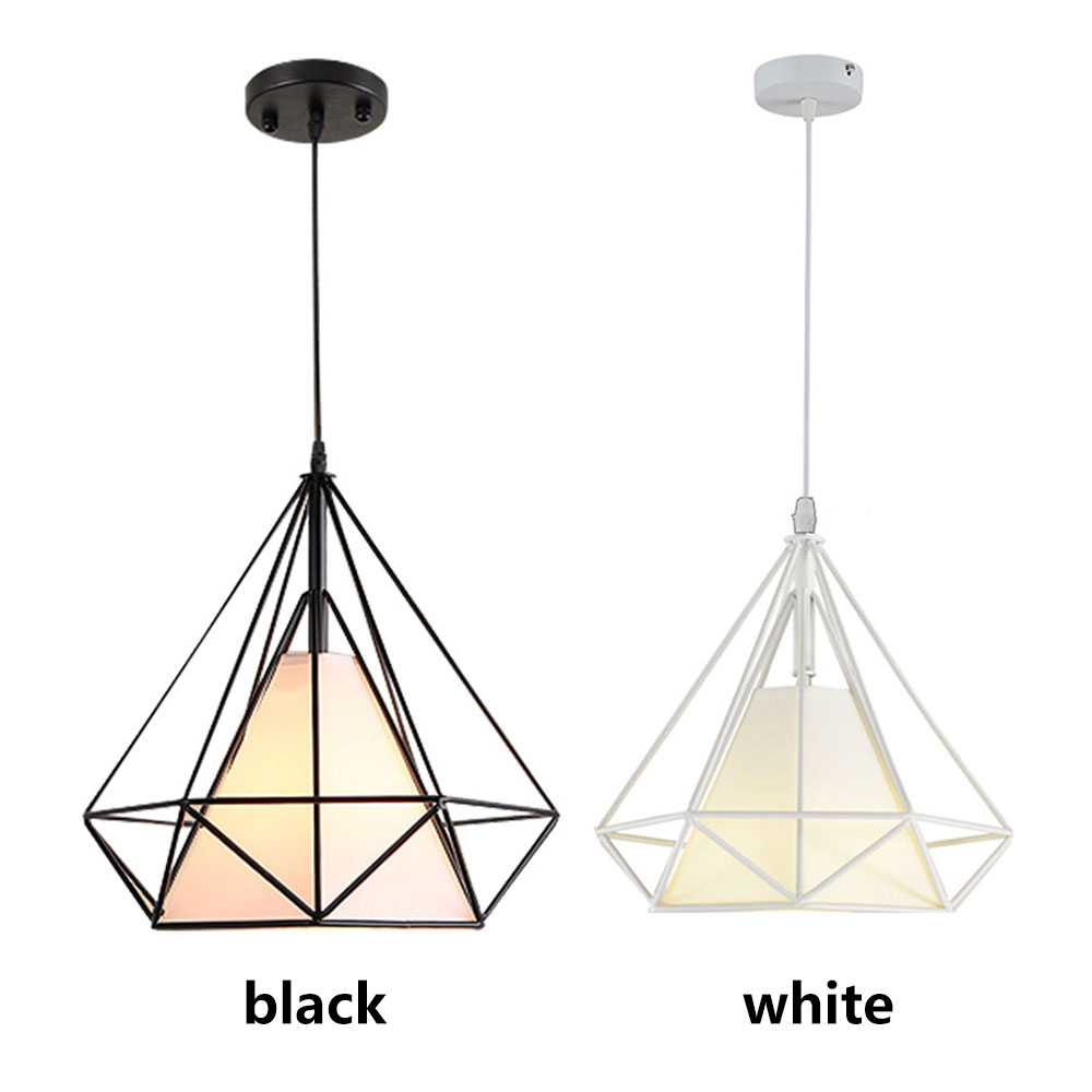 Chandelier Bedroom  Dreamlike Parlor E27 Metal Hanging Lamp Minimalist Living Room Black Scandinavian HangLamp Retro