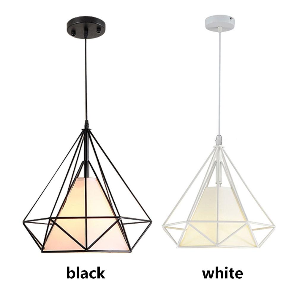 Chandelier Bedroom Parlor E27 Metal Hanging Lamp Minimalist Living Room Black Scandinavian HangLamp Retro