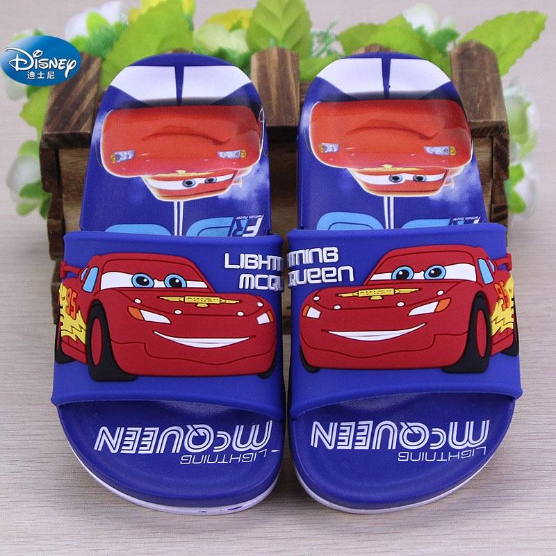 2018 Summer New Children's Sandals Disney Cartoon Car Baby Flat-bottomed Home Floor Drag  24-29
