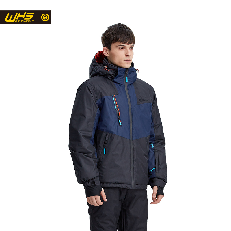 Whs 2017 hombres chaqueta de esquí de nieve de la marca ropa de abrigo hombre de