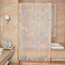 Новинка, 3D прозрачная Водонепроницаемая занавеска для ванной комнаты, занавеска для душа в морском стиле, Современная Новинка