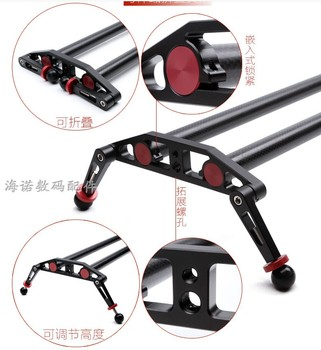 100cm carbon fiber Ball-bearing Typed Camera Slider for DSLR and Video Cameras with Carrying Bag Load  Cinematic Shoot