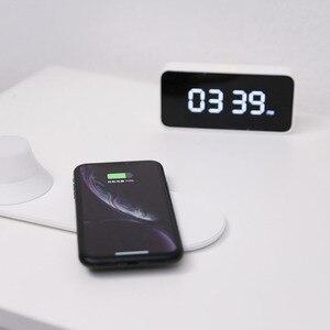 Image 4 - オリジナルyeelightワイヤレス充電器ledナイトライト磁気吸引のための急速充電サムスンのためのiphone xiaomi