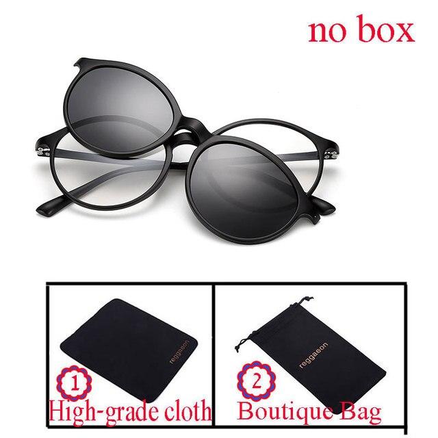 08afde1c24 reggaeon Sunglasses Women Men Polarized Magnetic Clip Glasses Clip On Sunglasses  Magnet Myopia Glasses Frame Optional packaging