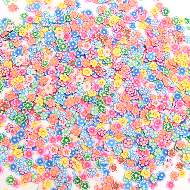 1000Pcs 5mm Mixed Clay Decoration Polymer Nail Sticks Flatback Cabochon Scrapbook DIY Accessories Buttons