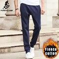 Pioneer Лагерь новые осень зима теплые брюки мужчины бренд мужской случайные толстые брюки способа качества 100% хлопок бегунов мужчины 699021