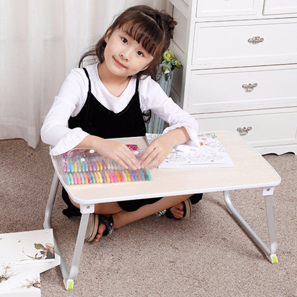 SUPER STABLE Laptop Bed Desk, Lightweight Dorm Floor Table, Foldable Breakfast Tray , Portable Standing Desk, Notebook Stand