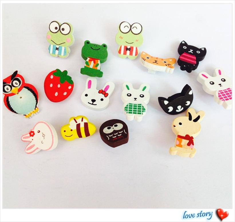 Decorative buttons new way kids child diy wooden buttons for Decorative buttons for crafts