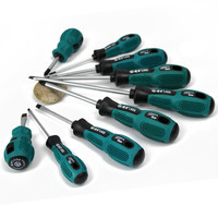 LAOA High Quality 9 Pcs CR V Material Screwdriver Set With Slotted And Phillips Head For