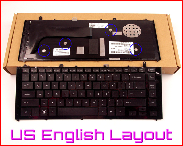 New Keyboard US English Version for HP Probook 4320s 4325s 4326s 4329s 4320s V112746AK1 Laptop W/ Frame