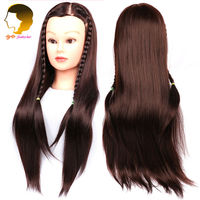 Brown Training Mannequin Head For Hairdressers Mannequin Head For Makeup Practice Dummy Hairstyles Long Hair And