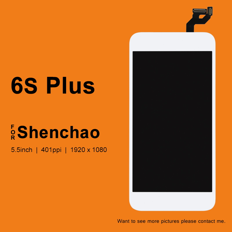 5PCS For iphone 6S Plus LCD Display For ShenChao Quality Touch Screen With Digitizer With 3D Touch Assembly For iphone 6S Plus