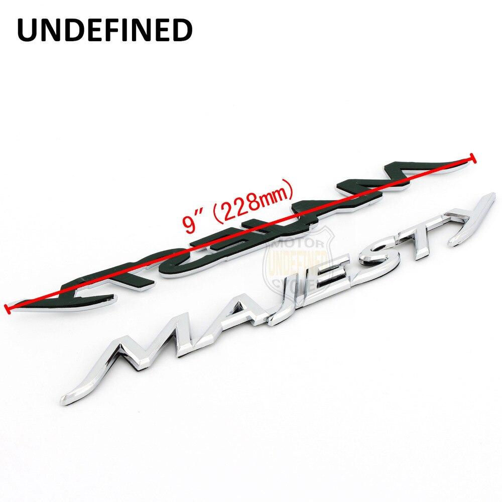МОТОЦИКЛ хром 3D Пластик эмблемы-наклейки Наклейка для Yamaha Majesty YP 125 250 400