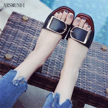 ARSMUNDI Women Sandals Flip Flops 2019 New Summer Fashion Rome Breathable Non-slip Shoes Woman Slides Solid Casual Female M375