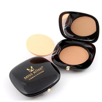 MISS ROSE Brand Dark Style Compact Powder 4 Color Oil Free Pressed Whitening Base Cosmetics Concealer