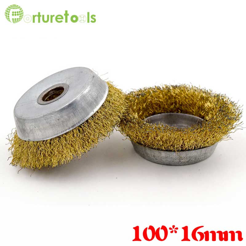10pcs wire brush for metal rust removal Diameter 85mm hole 16mm angle grinder polishing tools accessories QT019