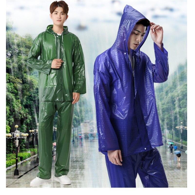 Waterproof Windproof Raincoat Rain Suit Jacket Coat Trousers Set Bicycle Outdoor
