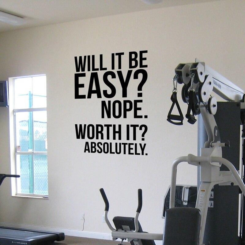 Absolutamente. fitness motivación cita cartel, gran gimnasio kettlebell CrossFit boxeo decoración letras Etiqueta. S1