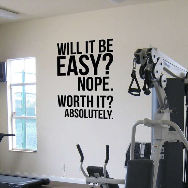 Home Gym Designs For Walls: Absolutely.fitness Motivation Wall Quotes Poster, Large