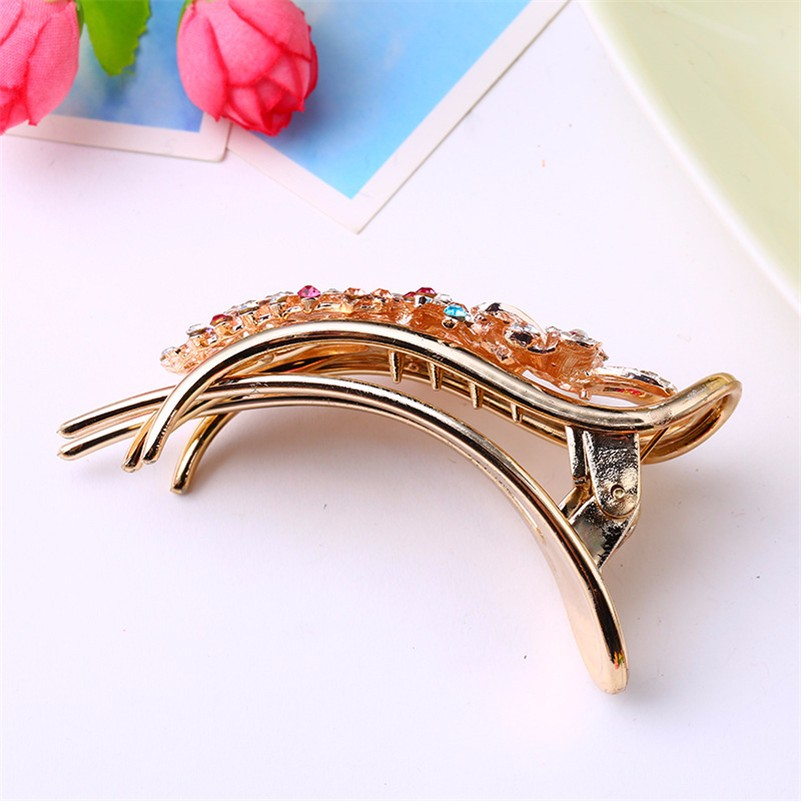 HTB1Nm7TNXXXXXapapXXq6xXFXXX0 Gorgeous Rhinestone Crystal Studded Flower Hair Clip Ornament For Women